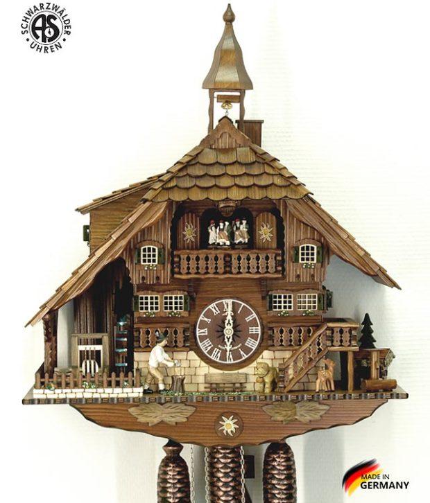 Часы с кукушкой механические Anton Schneider 8TMT-1071/9 Страна: Германия (Шварцвальд) купить на triberg.ru