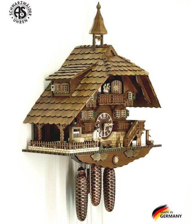 Часы с кукушкой механические Anton Schneider 8TMT-1071/9. Страна: Германия (Шварцвальд) купить на triberg.ru