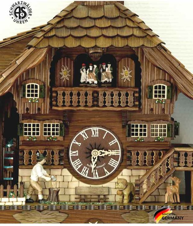 Часы с кукушкой механические Anton Schneider 8TMT-1071/9.. Страна: Германия (Шварцвальд) купить на triberg.ru