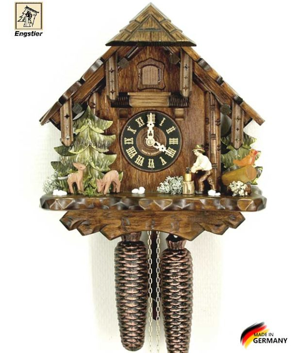 Часы механические с кукушкой Engstler-427-8 Страна: Германия (Шварцвальд) купить на triberg.ru