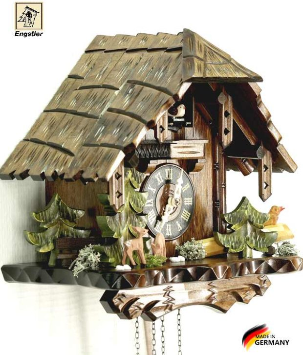 Часы с кукушкой Engstler-427q.. Страна: Германия (Шварцвальд) купить на triberg.ru