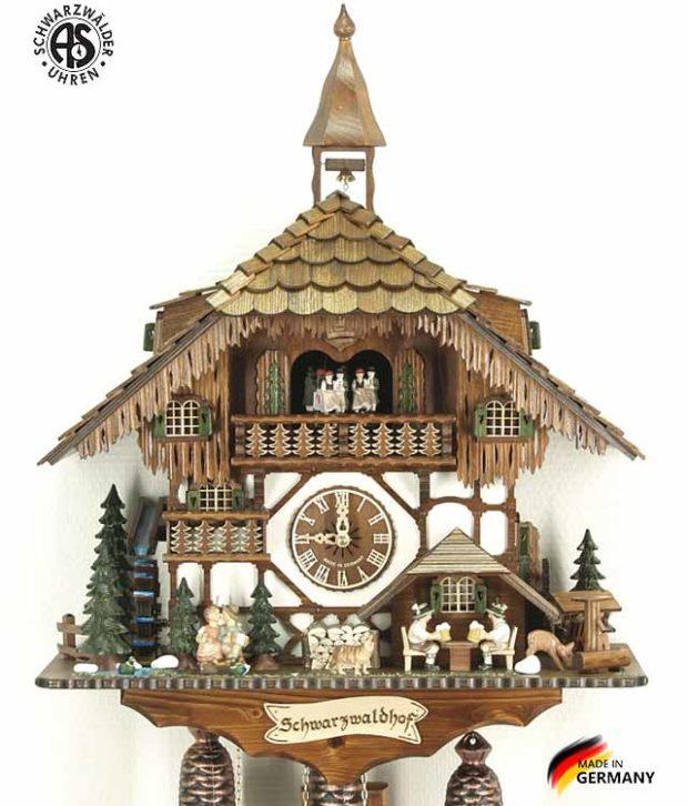 Часы настенные механические с кукушкой Anton_Schneider_8tmt_1565_9 Страна: Германия (Шварцвальд) купить на triberg.ru