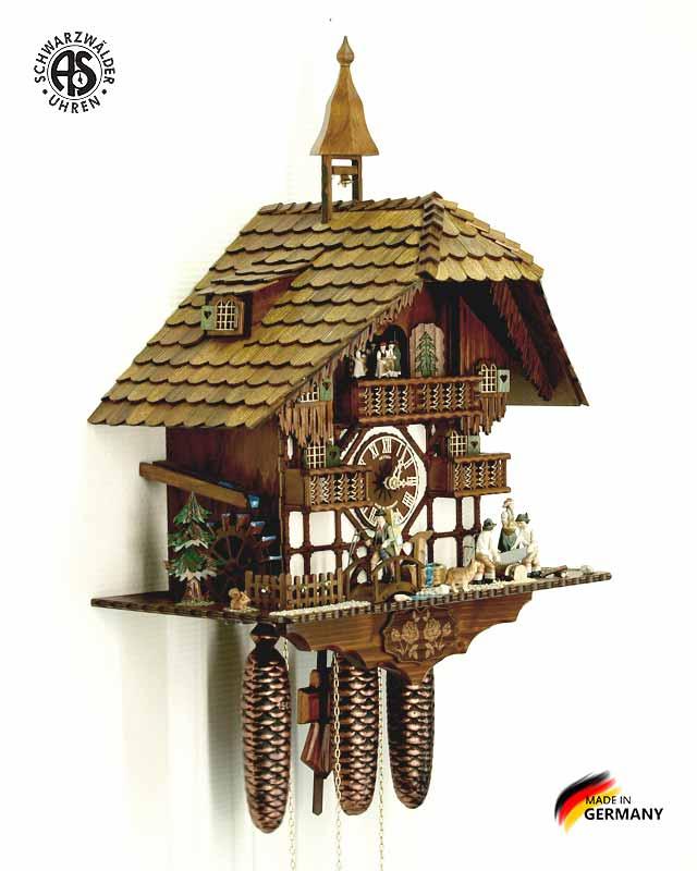 Часы настенные механические с кукушкой Anton_Schneider_8tmt_1585_9. Страна: Германия (Шварцвальд) купить на triberg.ru