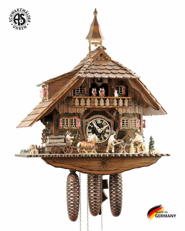 Часы настенные механические с кукушкой Anton_Schneider_8tmt_1595_9. Страна: Германия (Шварцвальд) купить на triberg.ru