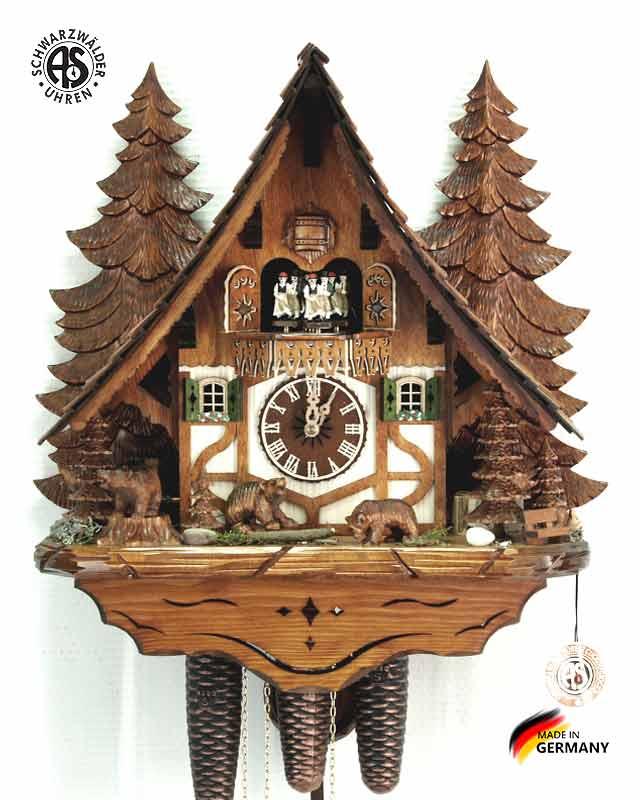 Часы настенные механические с кукушкой Anton_Schneider_8tmt_2653_9 Страна: Германия (Шварцвальд) купить на triberg.ru