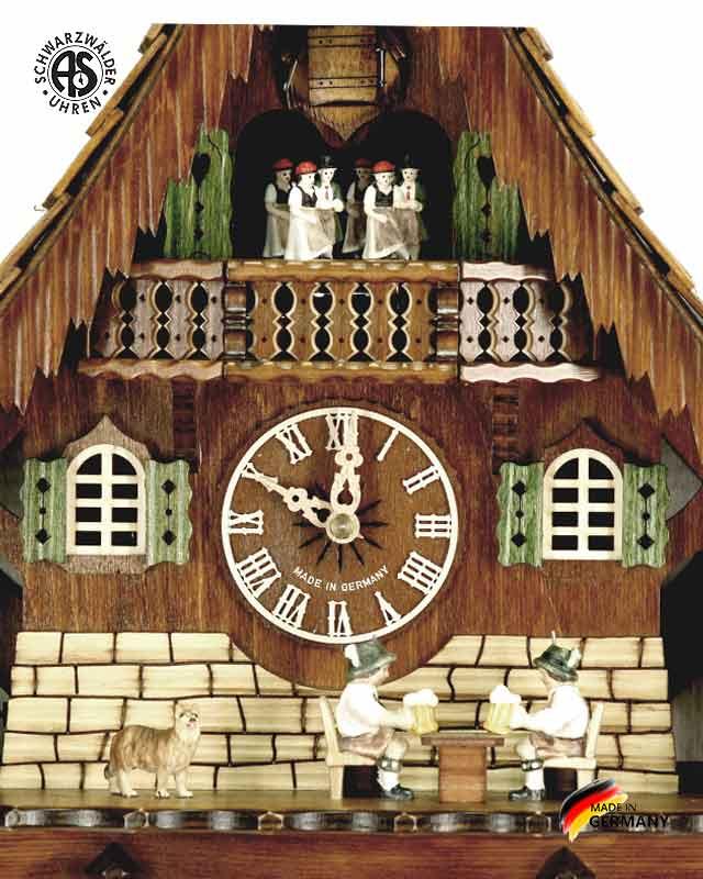 Часы настенные механические с кукушкой Anton_Schneider_8tmt_2733_9.. Страна: Германия (Шварцвальд) купить на triberg.ru