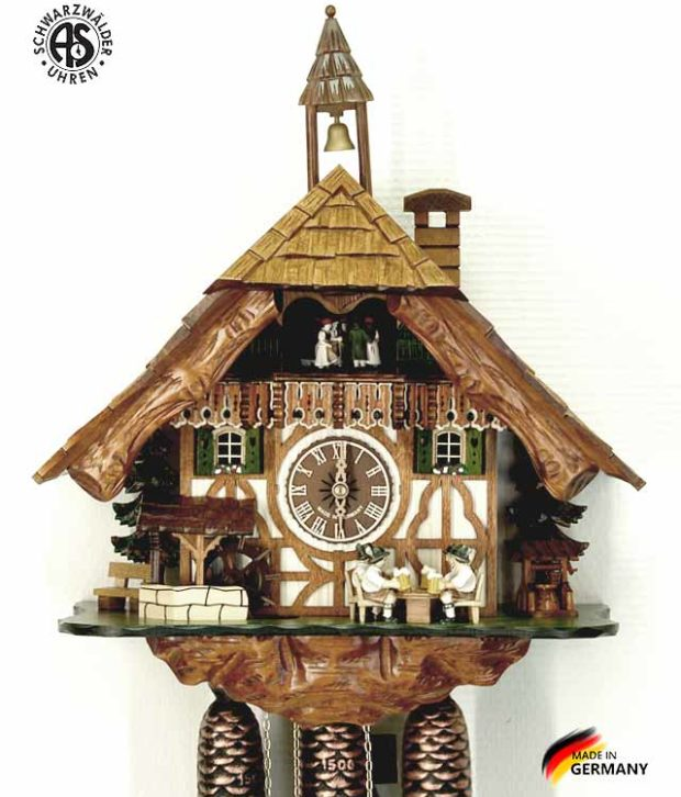 Часы настенные механические с кукушкой Anton_Schneider_8tmt_5523_9 Страна: Германия (Шварцвальд) купить на triberg.ru