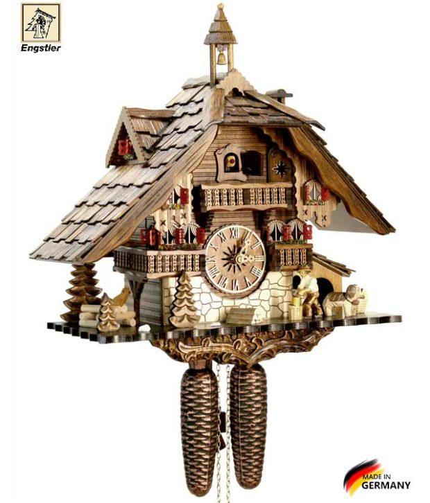Настенные часы механические с кукушкой Engstler-481-8. Страна: Германия (Шварцвальд) купить на triberg.ru