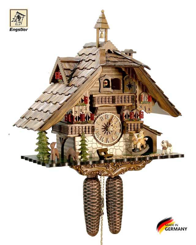 Часы с кукушкой настенные механические Engstler-4815-8. Страна: Германия (Шварцвальд) купить на triberg.ru