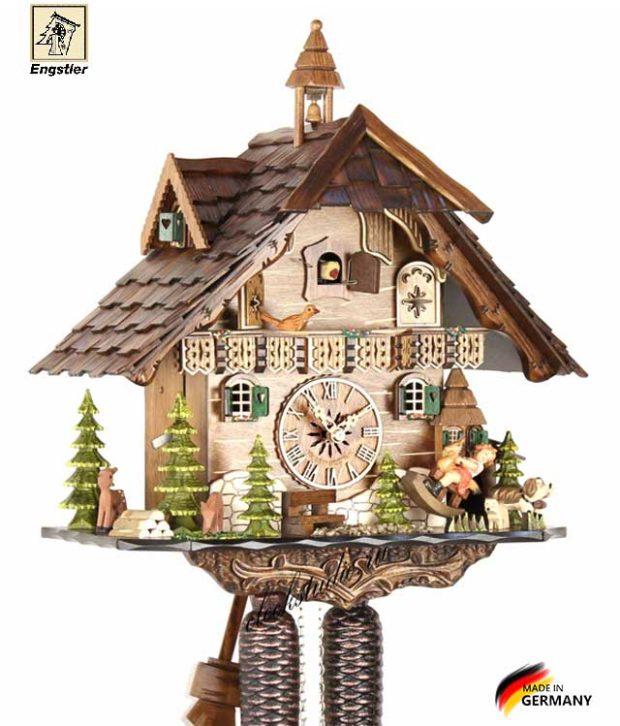 Часы настенные с кукушкой механические Engstler-4835-8 Страна: Германия (Шварцвальд) купить на triberg.ru