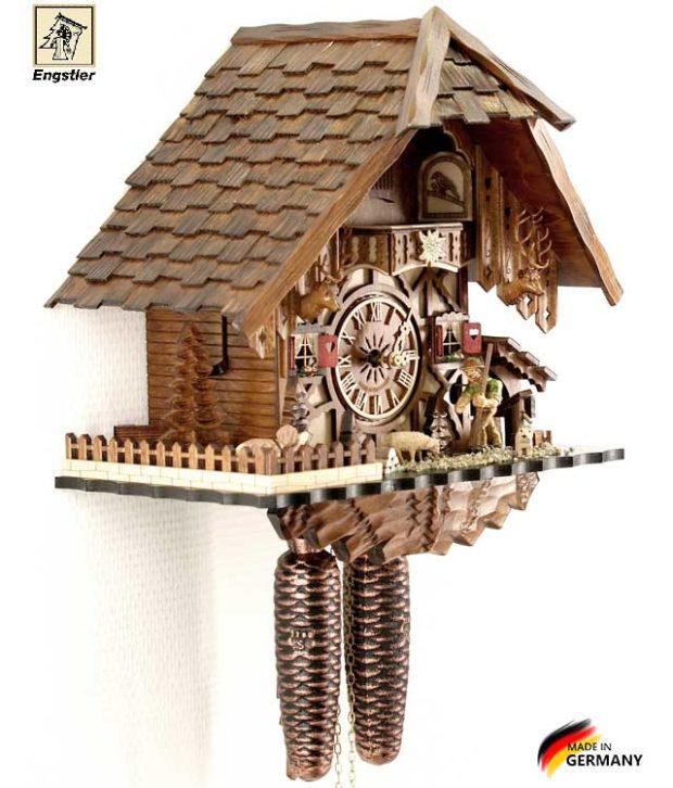 Часы настенные с кукушкой механические Engstler-48712-8. Страна: Германия (Шварцвальд) купить на triberg.ru