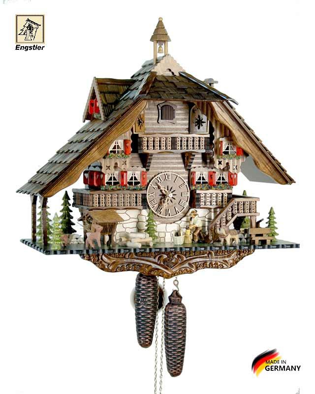 Часы механические с кукушкой Engstler-489-8. Страна: Германия (Шварцвальд) купить на triberg.ru