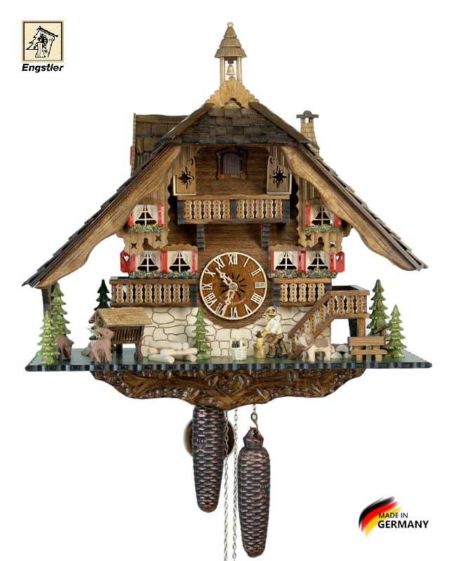 Часы механические с кукушкой Engstler-489-8 Страна: Германия (Шварцвальд) купить на triberg.ru
