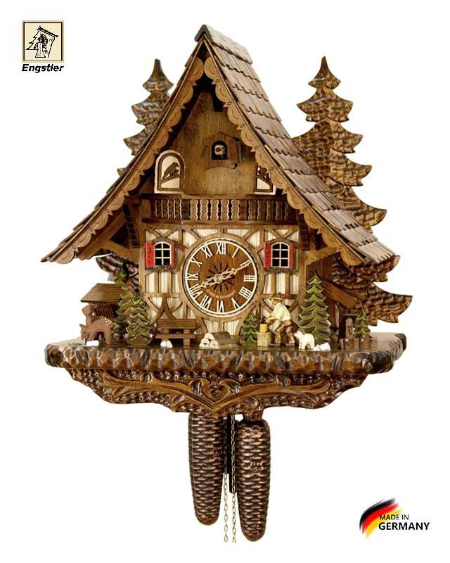 Часы настенные с кукушкой механические Engstler-4991-8. Страна: Германия (Шварцвальд) купить на triberg.ru