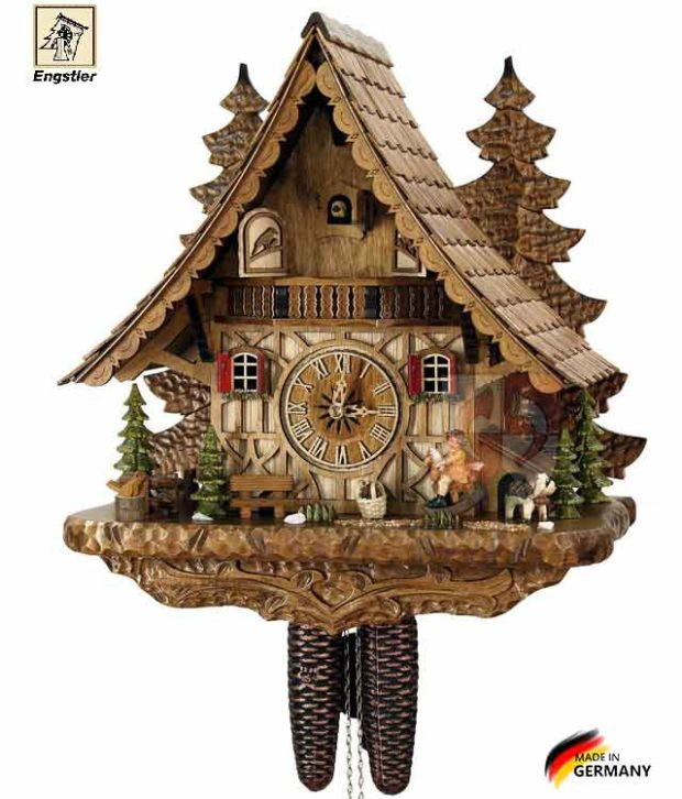 Часы с кукушкой механические Engstler-4995-8. Страна: Германия (Шварцвальд) купить на triberg.ru