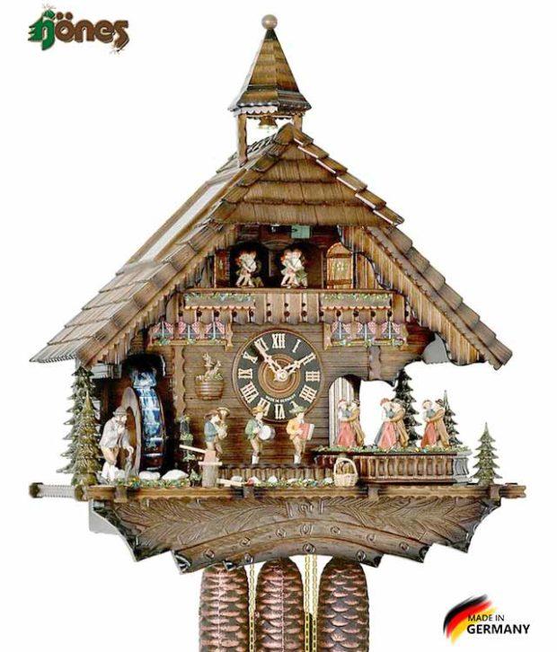 Часы настенные механические с кукушкой Hönes-86200t Страна: Германия (Шварцвальд) купить на triberg.ru