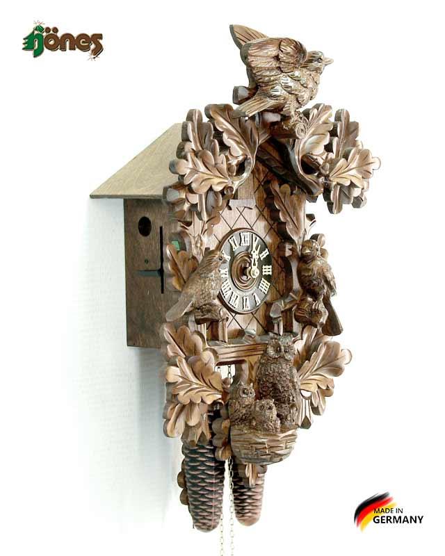 Часы настенные механические с кукушкой Hönes_858_4nu. Страна: Германия (Шварцвальд) купить на triberg.ru