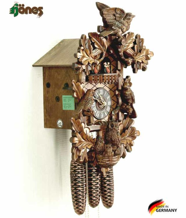 Часы настенные механические с кукушкой Hönes_8658_4tnu. Страна: Германия (Шварцвальд) купить на triberg.ru