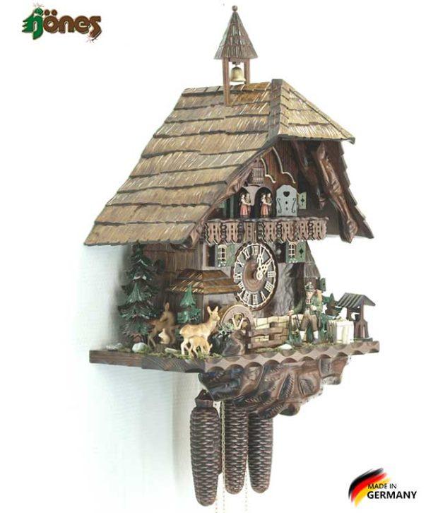 Часы настенные механические с кукушкой Hönes_86740t. Страна: Германия (Шварцвальд) купить на triberg.ru