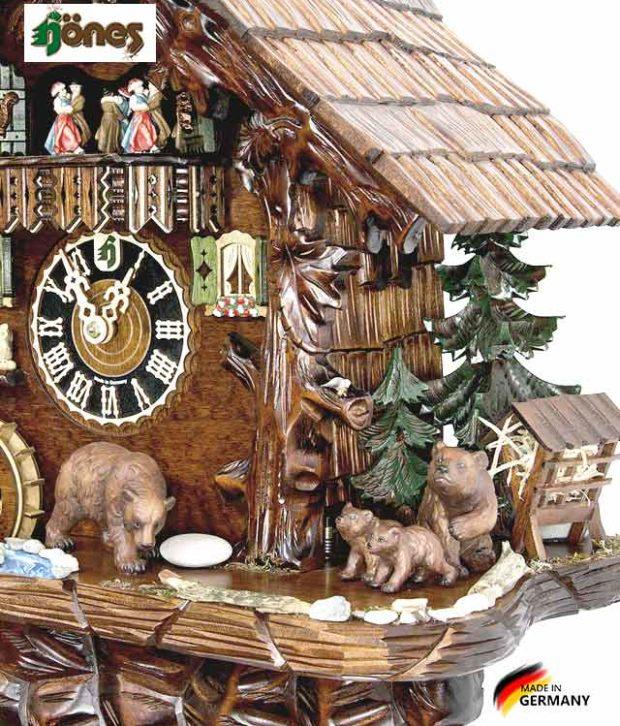 Часы настенные механические с кукушкой Hönes_86760t.... Страна: Германия (Шварцвальд) купить на triberg.ru