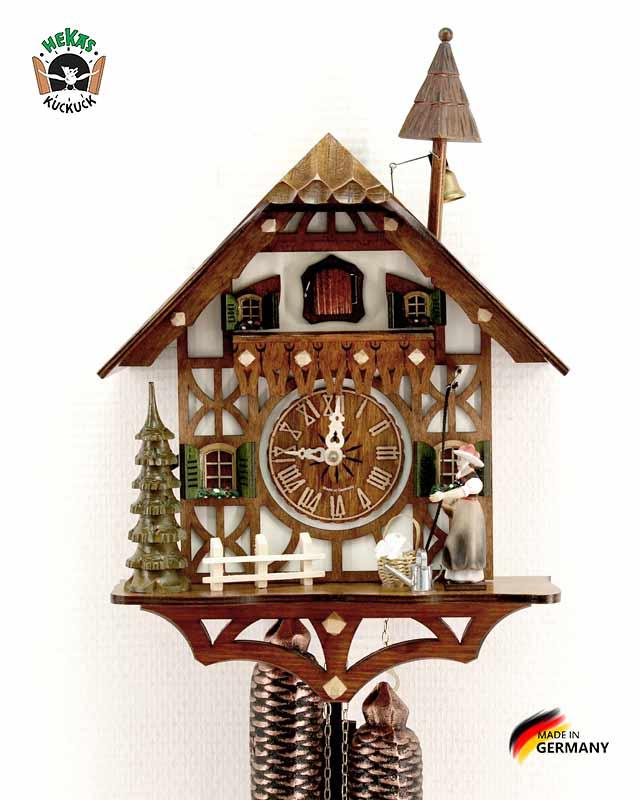 Часы настенные механические с кукушкой Hekas_877EX Страна: Германия (Шварцвальд) купить на triberg.ru