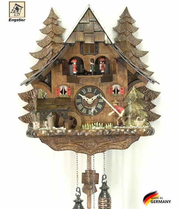 Часы настенные с кукушкой Engstler-4739qmt Страна: Германия (Шварцвальд) купить на triberg.ru