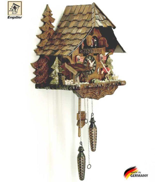 Часы настенные с кукушкой Engstler-4739qmt. Страна: Германия (Шварцвальд) купить на triberg.ru