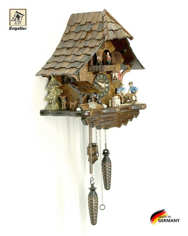 Часы настенные с кукушкой Engstler-4927qmt. Страна: Германия (Шварцвальд) купить на triberg.ru